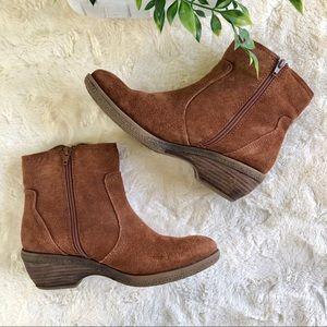 BareTraps Shoes - Baretaps brown suede Sasha fringe ankle boots 71/2